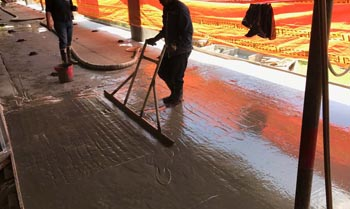 SINGLE LAYER SCREEDS IN CELLULAR CONCRETE