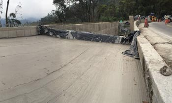 FILLING OF ROAD BEDS WITH CELLULAR CONCRETE